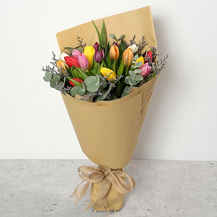 Beautiful Tulips Bouquet: Bouquet of Flowers
