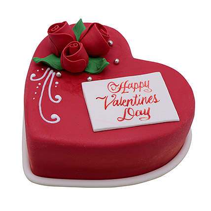Heart Shaped Valentine Cake 1Kg: Valentine Cakes for Husband