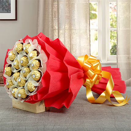24Pcs Ferrero Bouquet: Valentines Day Gifts