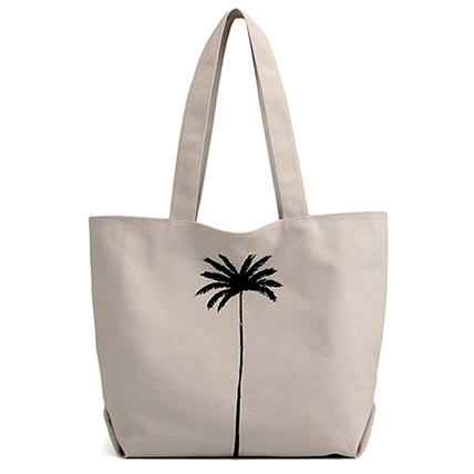 Canvas Shopper Bag: Leather Bags