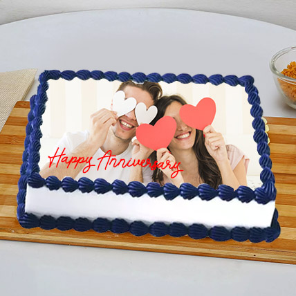 In Love Anniversary Photo Cake: Customized Cakes in Dubai