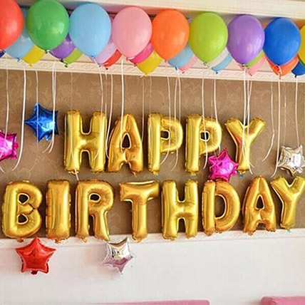 Happy Birthday Colourful Balloon Decor: Birthday Gifts for Girlfriend