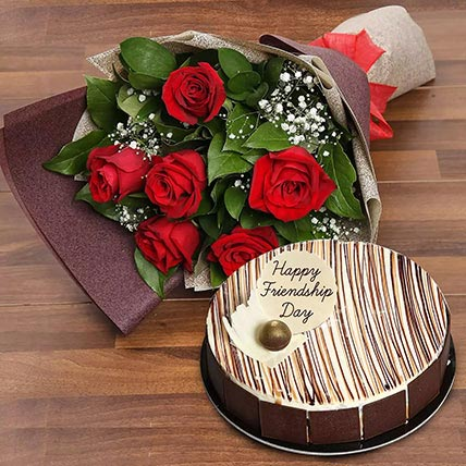 Marble Cake  and Red Roses Combo: Marble Cakes