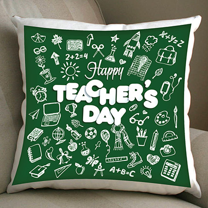 Happy Teachers Day Cushion: Teachers Day Gifts