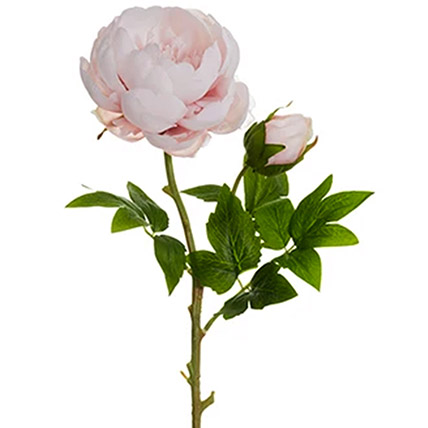 6 Artificial Light Pink Peonies Stick: Gifts for Scorpios