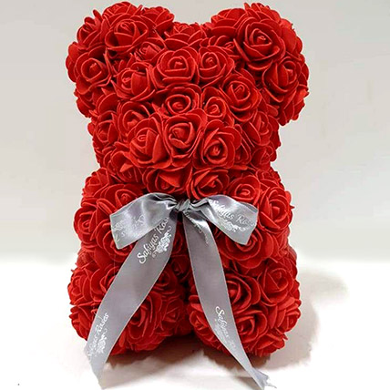 Artificial Roses Teddy Red: Rose Teddy Bears