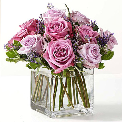 Vase Of Royal Purple Roses: Send Gifts to Sharjah