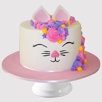 Adorable Bunny Cake: Cat Birthday Cakes