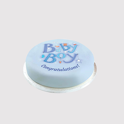Baby Boy Sweet Surprise Combo: Baby Shower Cakes