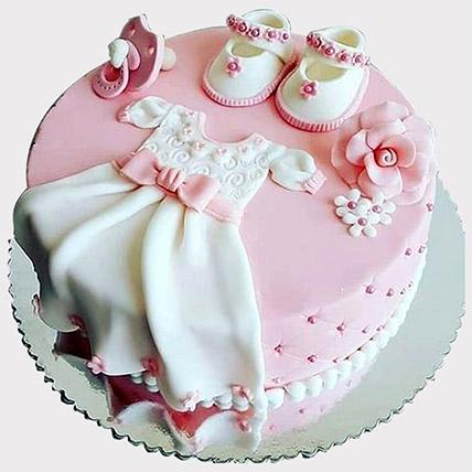 Baby Shower Fondant Cake: