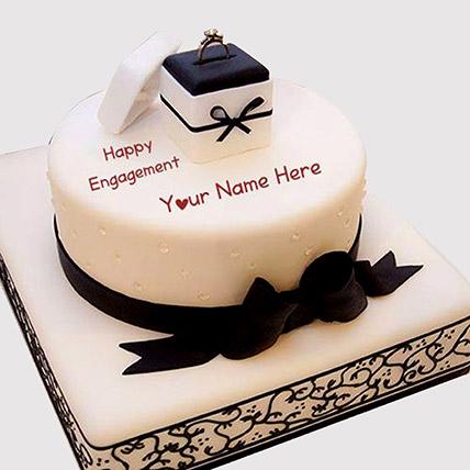 Designer Ring Engagement Cake: Engagement Cakes