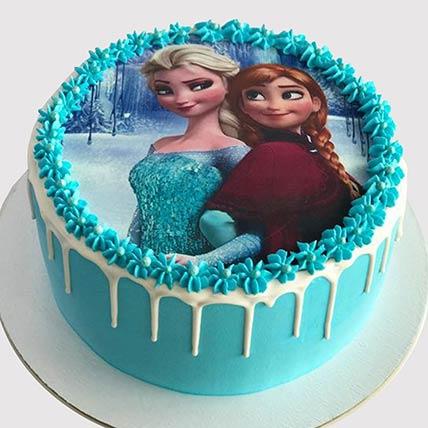 Elsa and Anna Cake: Frozen Birthday Cake