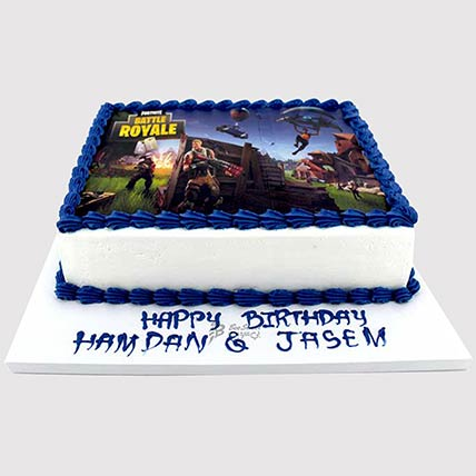 Fortnite Battle Photo Cake: Fortnite Cakes