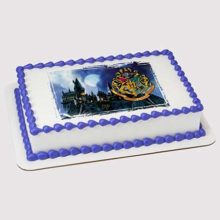 Hogwarts Logo Photo Cake: Harry Potter Cake