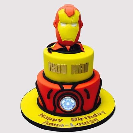 Iron Man Fondant Theme Cake: Iron Man Cake