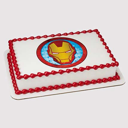 Iron Man Logo Photo Cake: Iron Man Cakes