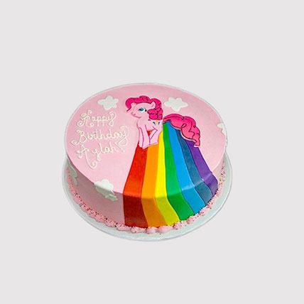 Pinkie Pie Rainbow Power Cake: Little Pony Cake