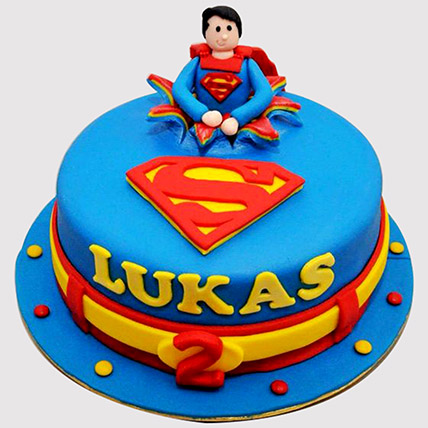 Superman Themed Cake: