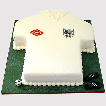 White Football Jersey Cake: Football Cakes