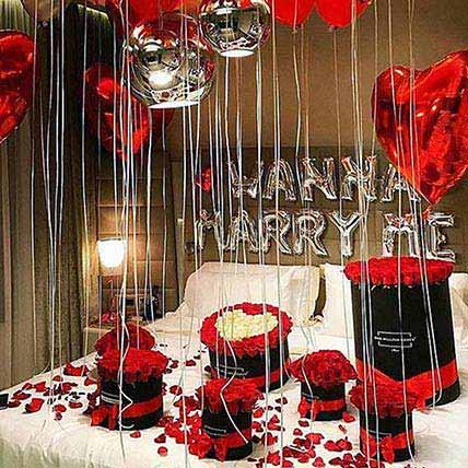 Grand Proposal: Balloon Decorations