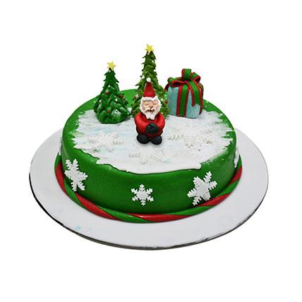 Santa Christmas Cake: Christmas Cake