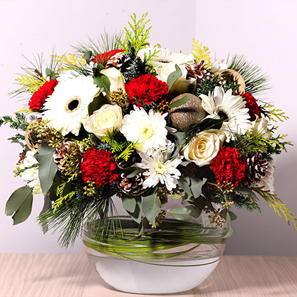 Bowl Of Fragrant Flowers: Christmas Flowers to Sharjah