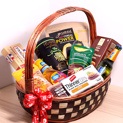 Sweet And Salty Treats Basket: Gift Hampers