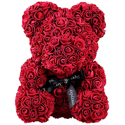 Artificial Roses Teddy Maroon: Rose Teddy Bears
