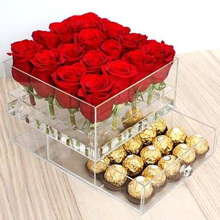 Elegant Roses and Ferrero Rocher: Valentines Day Flowers to Sharjah