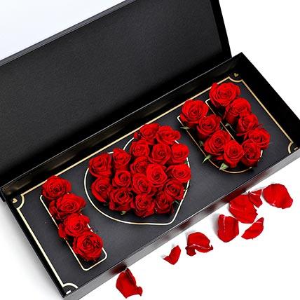 I Love You Red Roses: Flower Box Dubai