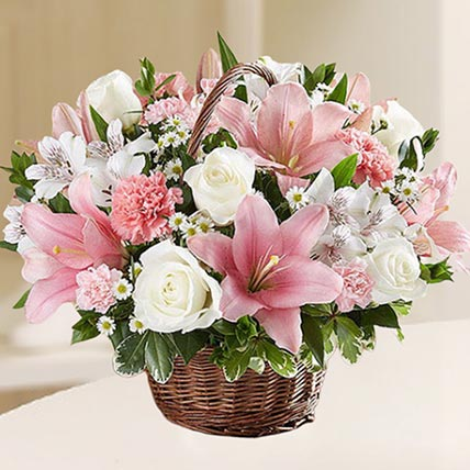 Beautiful Flowers Basket: Sympathy & Funeral Flowers