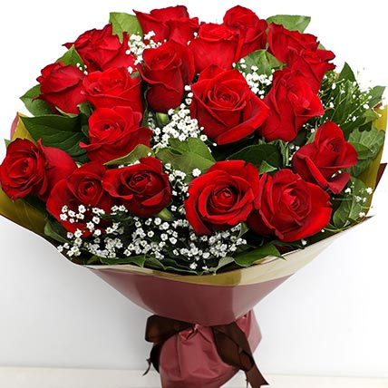 Elegant Bunch Of Roses: Flower Bouquets