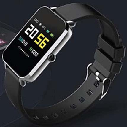 Stylish Fitness Tracker Black: