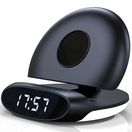 Foldable Alarm Clock & Wireless Charger: Electronics Accessories