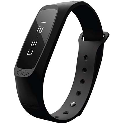 Black Lightweight Activity Tracker: Watches