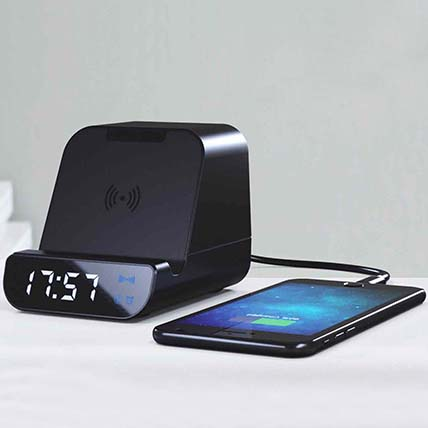 Black Multifunctional Portable Wireless Charger: