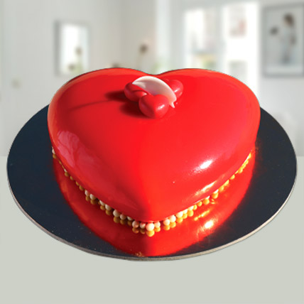 Valentines Red Heart Cake: Best Seller Gifts