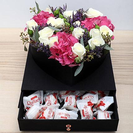 Roses N Chocolates Combo: Mothers Day Flowers