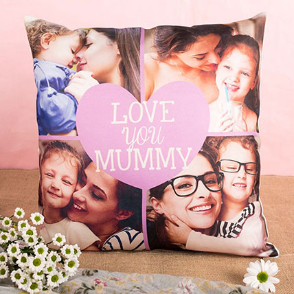 Love You Mummy Personalised Cushion: Mothers Day Cushions