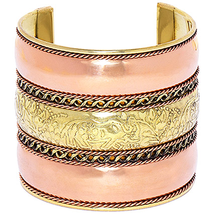 Gold Plated Cuff Bracelet: Jewellery