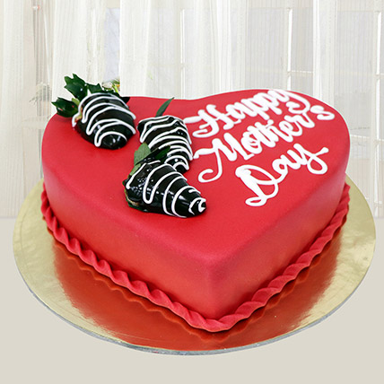 Happy Mothers Day Heart Cake 1 Kg: Mothers Day Gifts