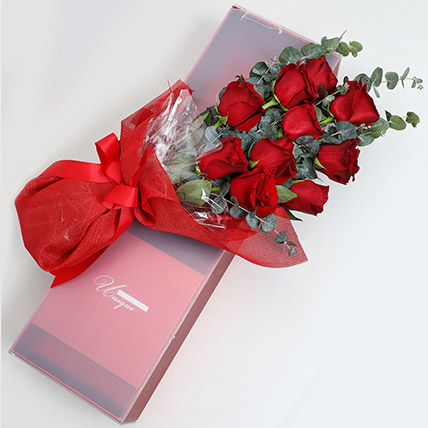 Magical Red Roses Box: Valentines Day Gifts