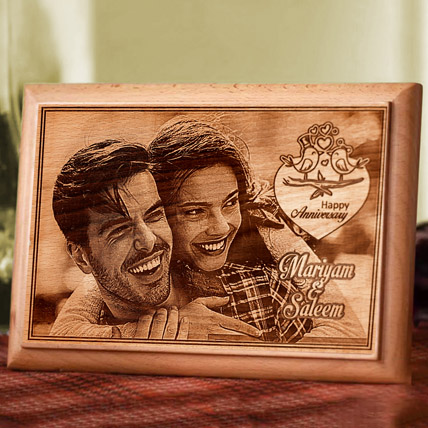 Personalised Photo Plaque: Marriage Anniversary Gifts for Wife