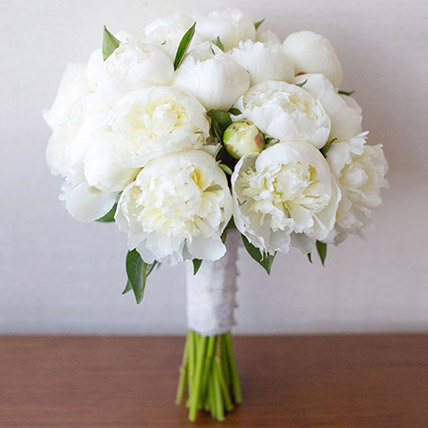 20 White Peonies Bouquet: Peonies Bouquets