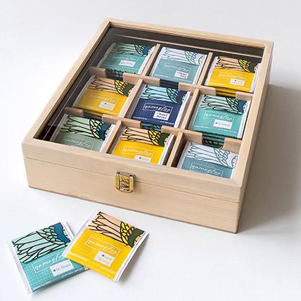 Natural Assorted Tea Wooden Box: