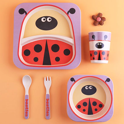 Sheep Bamboo Tableware Set: Back to School Gifts