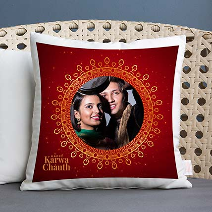 Sighting of Moon Personalised Cushion: Karwa Chauth Gifts