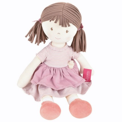 Cute Doll in Pink Dress Natural Cotton: Dolls