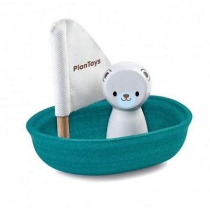 Wooden Sailing Boat Polar Bear: