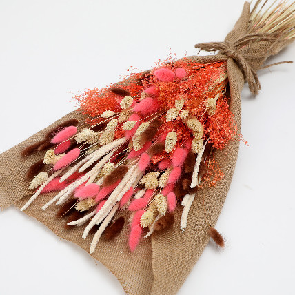 Dried Lagurus and Pampus Bouquet: